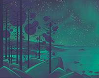 "Short animation ""Aurora Borealis"""