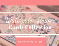 FREE Watercolor Flower Cards Collection