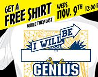 Genius Shirt Giveaway