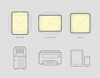 Multiple Icons Sizing Method