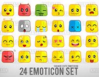 Square Cute Emoticon