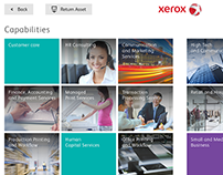 Xerox - Touch table brand experience app