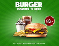 Burger King sandwich poster