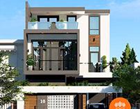 Thiết kế biệt thự nhà phố 3 tầng hiện đại 8x14m