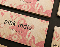 Pink India logo redesign and collateral
