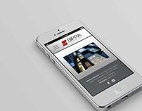 Diseño de sitio web y tarjetas personales _ Sipra S.A
