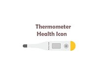 white and yellow Thermometer Health Icon