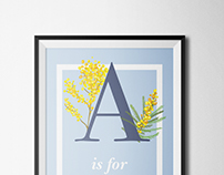 "Typographic Poster Design- ""A"""