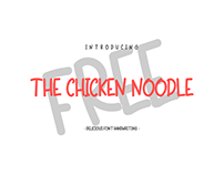 FREE FONT - THE CHICKEN NOODLE