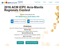 ICPC Manila 2016 Website