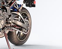 Yamaha FZ-09 - Photorealistic 3D Render