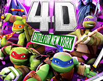 Teenage Mutant Ninja Turtles 4D Movie Key Art and Logo