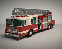 Low Poly Fire Truck