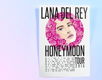 Lana Del Rey - Tour Poster