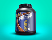 Free Protein Supplement Powder Bottle Mockup PSD