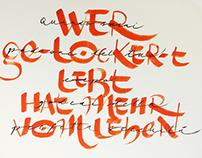 Calligraphic exhibition