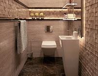 Modern bathroom design at con-creative office