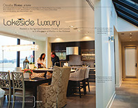 Lakeside Luxury • Editorial Design and Art Direction
