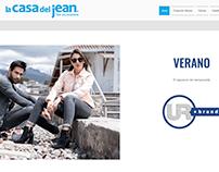 Página web La Casa del Jean