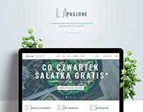 LaPasjone - Web Layout for Restarant System