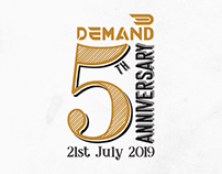 5th Year Logo, Typography, Numeric Design