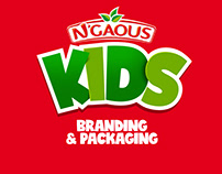 N'gaous KIDS branding and packaging