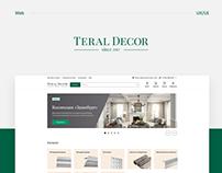 Teral Decor / Дизайн интернет-магазина