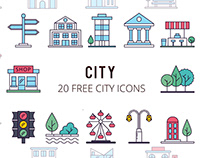 City Vector Free Icon Set