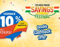 Great India Saving Festival Campaign for Grocermax.com