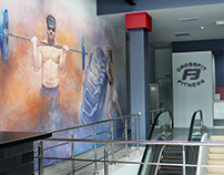 Wall painting in the sports club F3