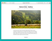Imagine - HTML minimalistic Theme