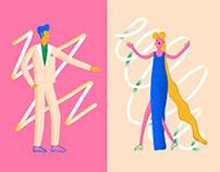 Dancing Styles Illustration