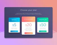 Choose your plan ( Pricing )
