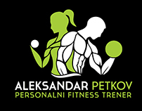Fitness Trainer Logo, business card and poster