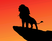 Lion King Silhouette Illustration