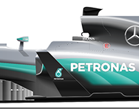 2017 Formula 1 Renderings: 2016 Liveries