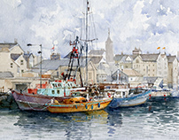 Watercolor-Boats
