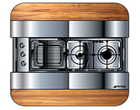 Combined cooktop / table for boats