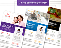 Free Services Flyers PSD Templates