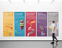 Bocconi E-Learning // illustrated panels
