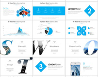 Best Blue business annual report PowerPoint template