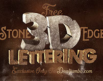 Free 3D Stone Edge Lettering Pack