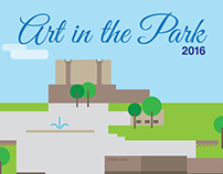 Art in the Park Vector Illustration
