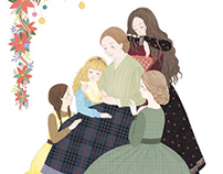 2017《 Little Women 》 Book Illustrations 《 小婦人 》 書籍插畫