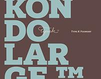 Kondolarge™ typeface