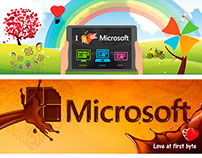 Won Microsoft Facebook cover page design contest