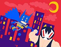 Batman and Enemies - Fan Art