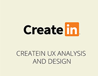 CreateIn UX Analysis and Design Pitch