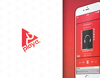 Playa App Logo and UI design