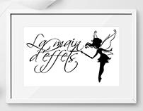 Logo atelier La main d'effets Peinture meubles enfants